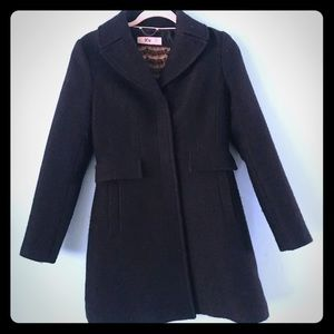 BR wool coat snap button XS